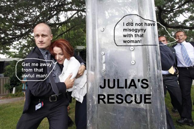 Julias Rescue from Tony