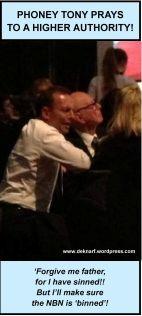 Abbott prays to murdoch