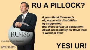 Pillock Disabled