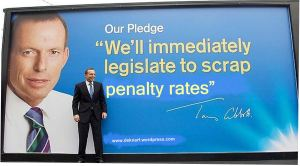 Abbott scrap penalty rates