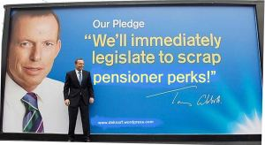 Abbott scrap pensioner perks