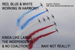 Political aerobatics