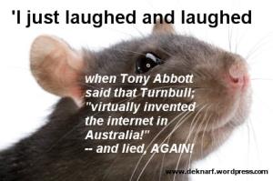 Abbott internet gaffe