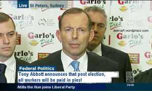 Abbott pays in pies