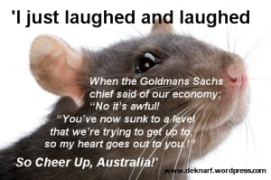 Cheer Up Australia Rat