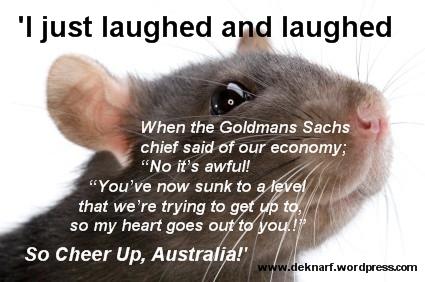 Cheer Up Australia Rat