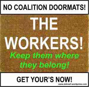 Labor wipe your feet