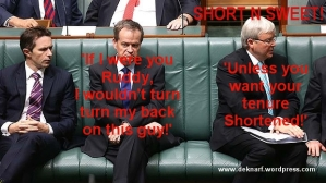 Rudd Shorten back turn