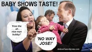 Baby shows taste