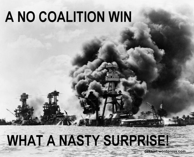 No Coalition Surprise