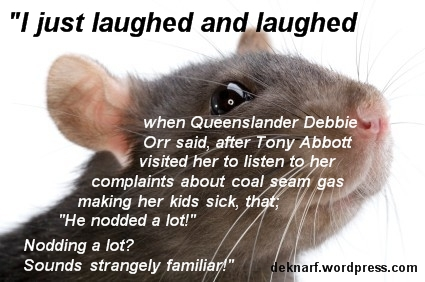 Nodding fracking abbott Rat
