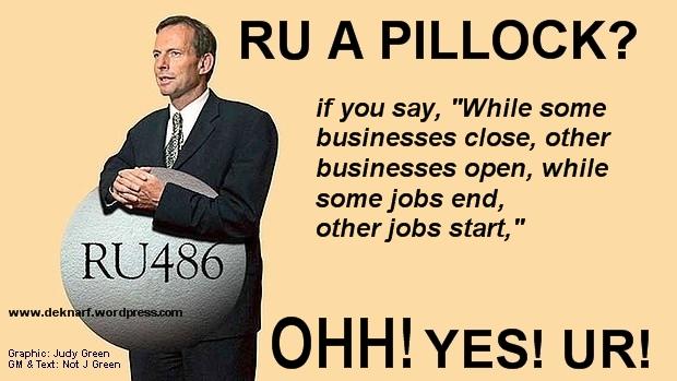 Abbott economics Pillock