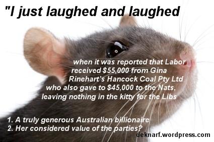 Generous Gina rat