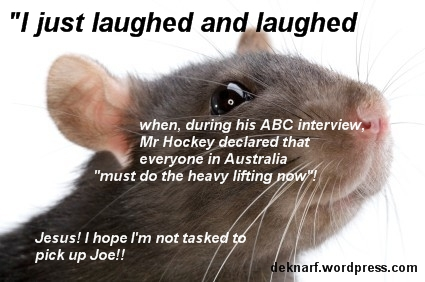 Heavy lifting rat