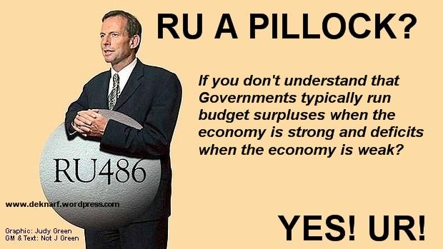 Budget Deficit Pillock