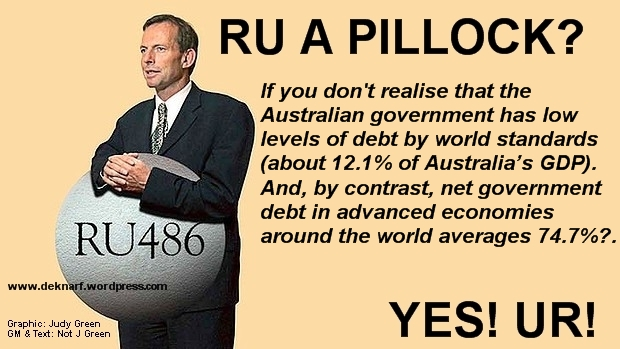 Debt And GDP Pillock