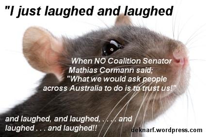 Laughing Cormann Rat