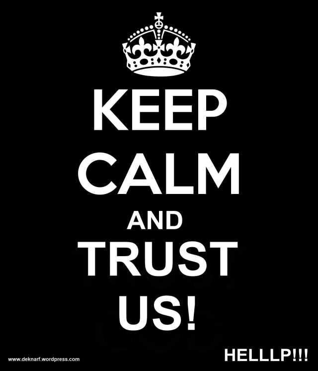 Trust Us Plaque