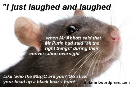 Putin Speaks Rat