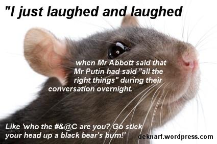 Putin Speaks Rat