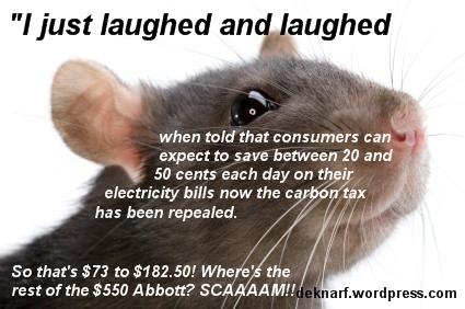 Shortchanged Rat