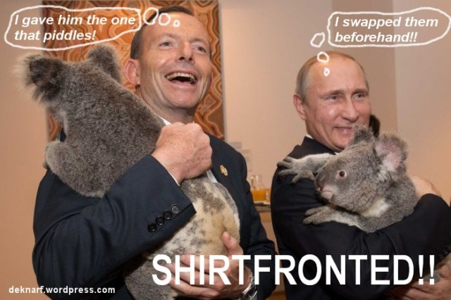 Shirtfronted Abbott