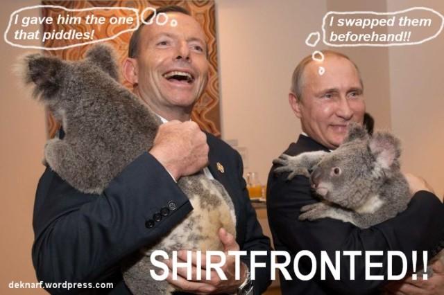 Shirtfronted Abbott