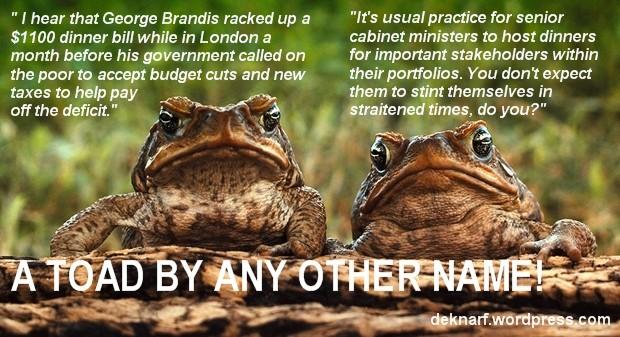 Dinner Brandis Frog
