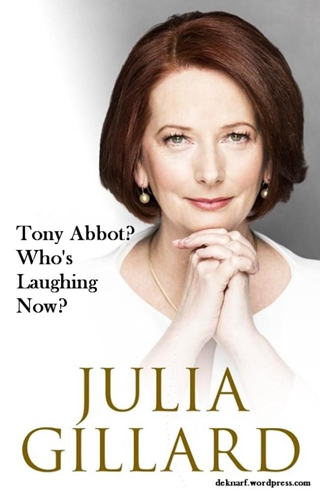 Laughing Gillard