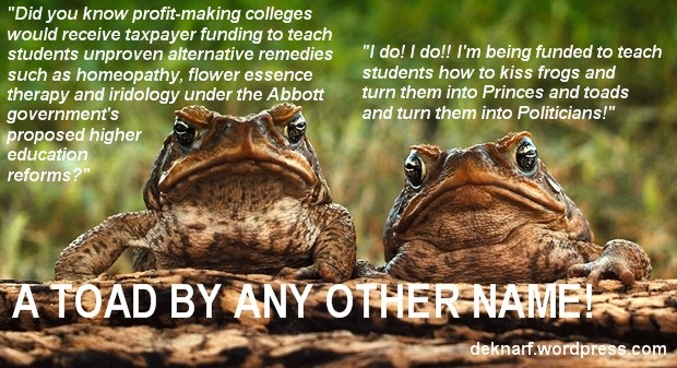 Alternative Therapy Toads