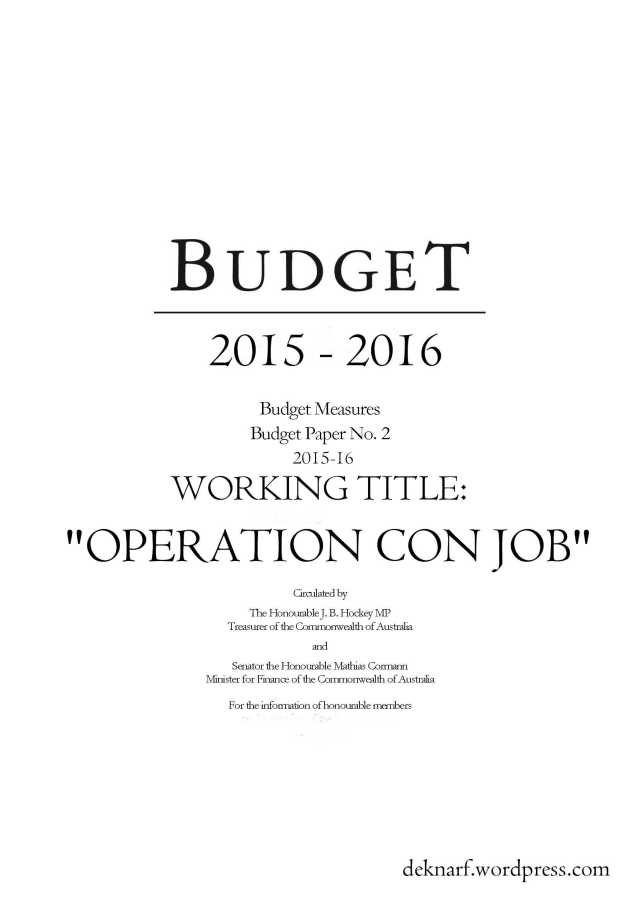 Budget Con Job
