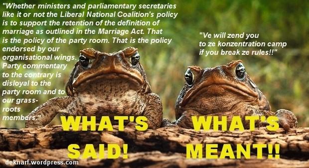 Ruling Toads