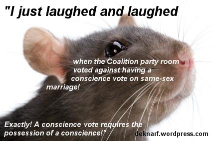 Conscience Vote Rat