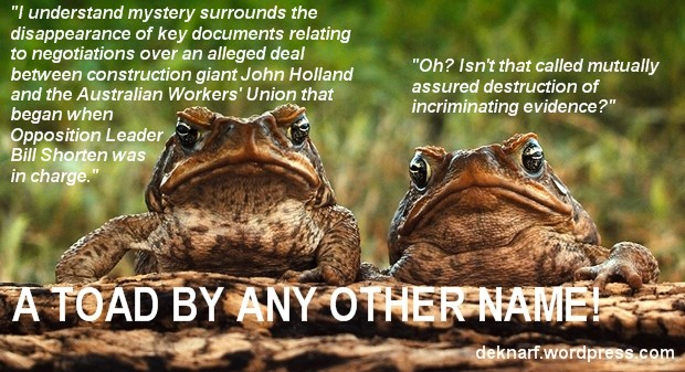 Evidence Toads