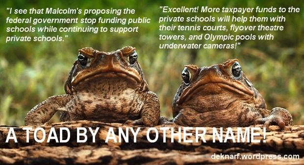 School Funding Toads