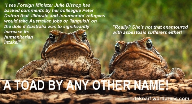 Bishop Refugees Toad