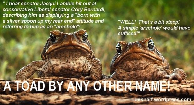 Bernardi Anus Toads