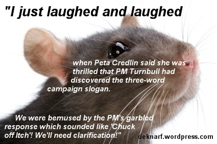 Credlin Slogan Rat