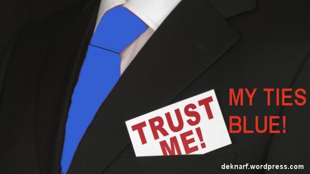 Trust Me Blue Tie
